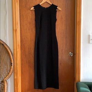 Dolce and gabbana black midi dress